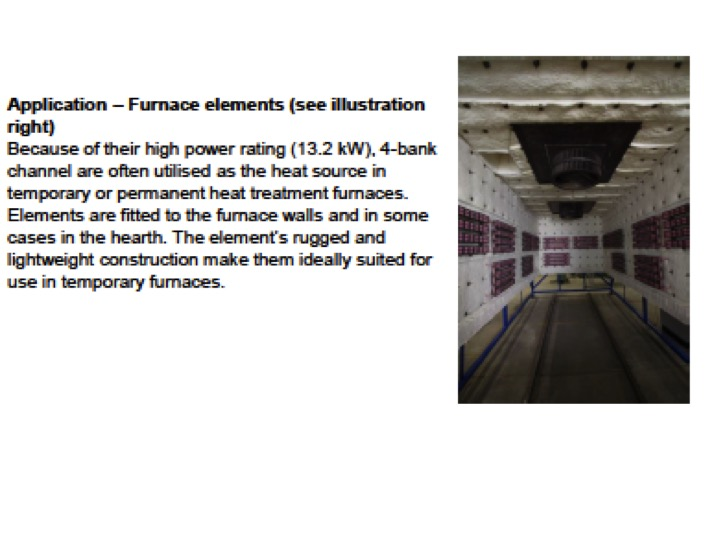 Multi bank ceramic heaters - furnace element application